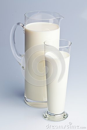 Milk jug. healthy diet