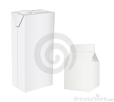 Milk or juice carton packages.