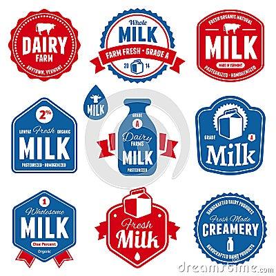 Free Milk Labels Stock Photos - 32243633