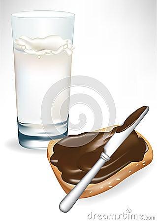 Milk and toast