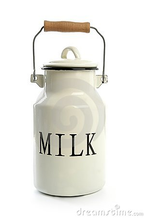 Free Milk Urn White Pot Traditional Farmer Style Royalty Free Stock Photos - 12746978