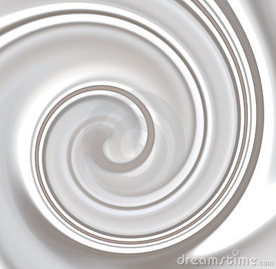Milk ,Whipped or White Yoghurt Cream Swirly