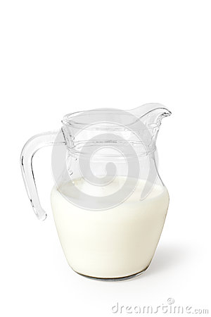 Milk on white background