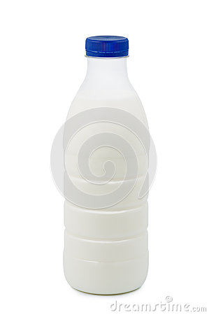 Milk on white background.