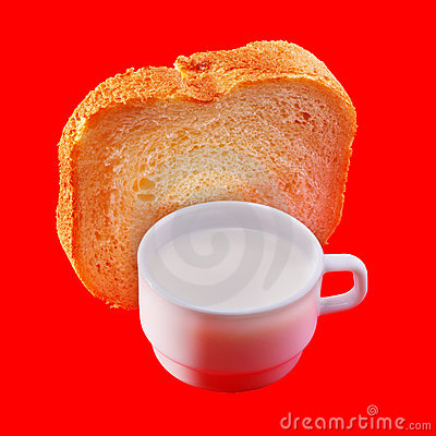 Milk and white bread