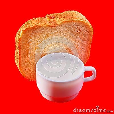 Milk and white bread
