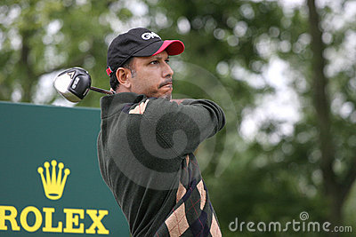 Milkha Singh, Open de France 2007, golf National Editorial Stock Photo