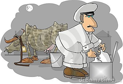 Milkman Cartoon Illustration