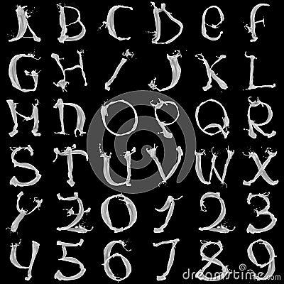 Milky alphabet