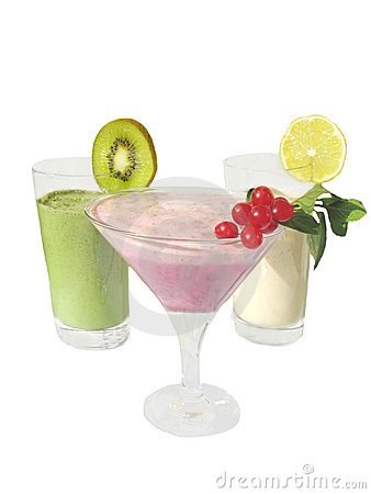 Free Milky Cocktails Decorated By Fruit Slices Stock Photos - 11798053