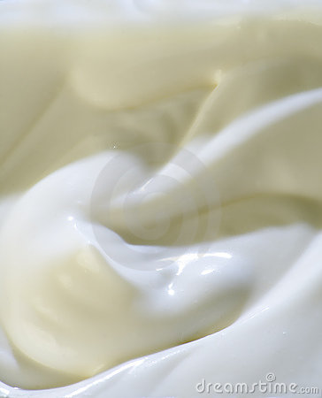 Milky cream surface