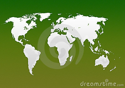 Milky Map of world green
