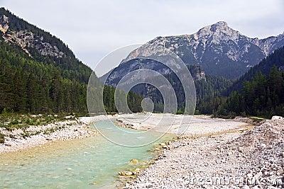 Milky Turquoise Stream in Dolomites