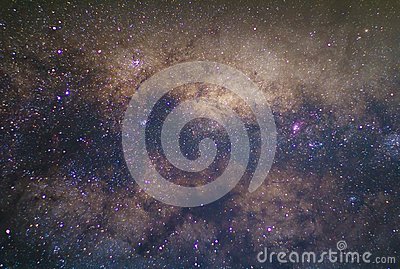 the Milky way galaxy with stars and space dust in the universe Stock Photo