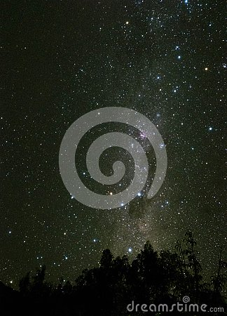 Milky Way night sky view in Elqui Valley Chile Stock Photo