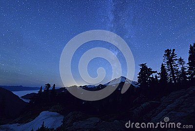 Milky Way Over Mount Baker