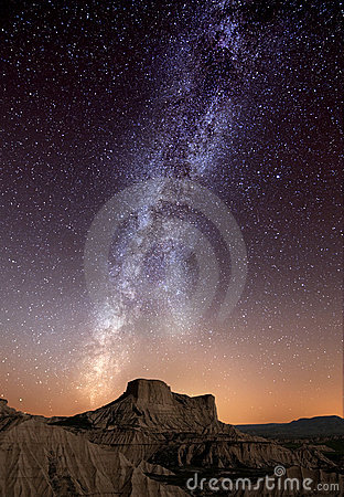 Free Milky Way Over The Desert Stock Photography - 22251092
