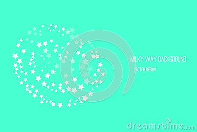Milky Way Starry Backdrop Vector Illustration