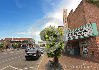 A Mill Avenue Street Scene, Tempe, Arizona Editorial Stock Image