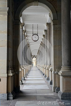 Free Mill Colonnade In Karlovy Vary Stock Photography - 107190732