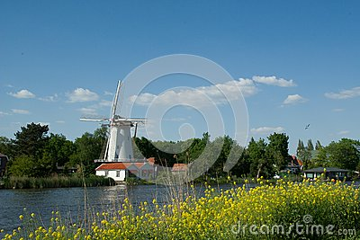 Mill Near River Rotte