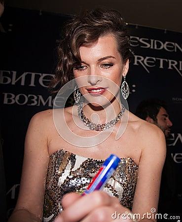 Milla Jovovich Editorial Image