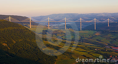Millau Viaduct Editorial Stock Image