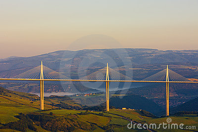 Millau Viaduct Editorial Photography