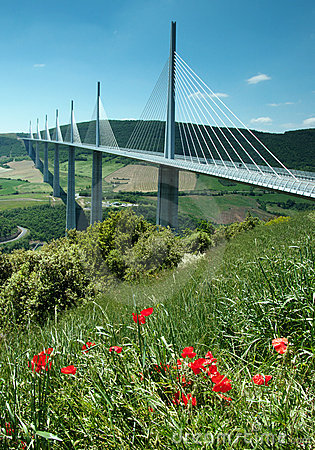 Millau Viaduct Editorial Photography