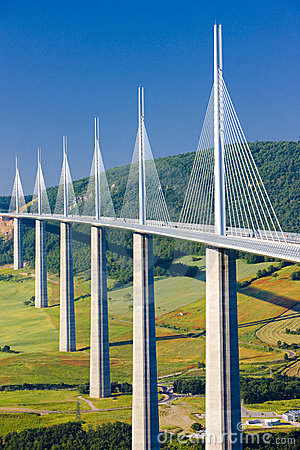 Millau Viaduct Editorial Stock Photo