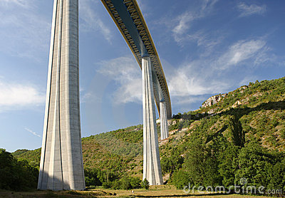 Millau Viaduct, France Editorial Photography