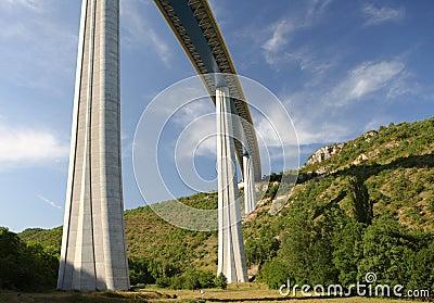 Millau Viaduct, France Editorial Photography