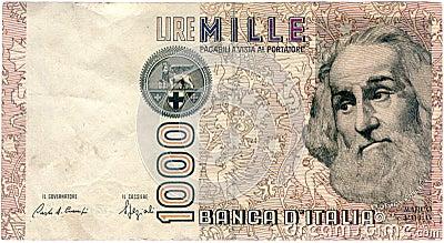 лиры mille