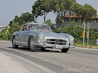 Mercedes-Benz 300 SL W198 in Mille Miglia 2011 Editorial Stock Photo