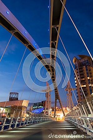 Free Millenium Bridge Manchester Stock Photography - 2815282
