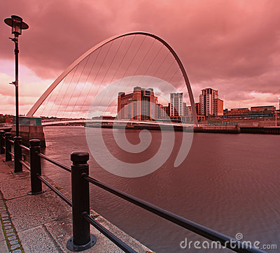 Millenium Bridge Newcastle Editorial Photography