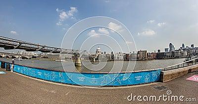 The Millennium Bridge Editorial Stock Image