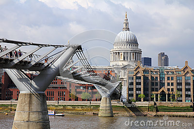 Millennium bridge London Editorial Stock Photo