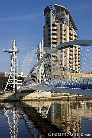 Millennium Bridge - Manchester in England Editorial Photo