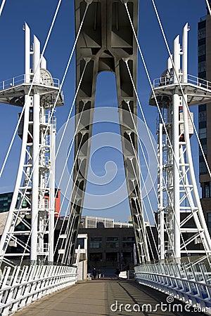 Millennium Bridge - Manchester - England Editorial Image