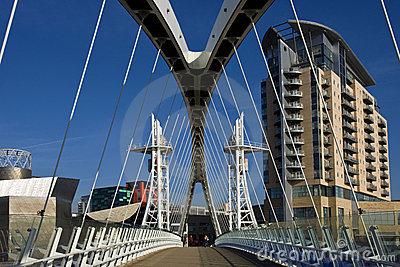Millennium Bridge - Manchester - England Editorial Stock Image
