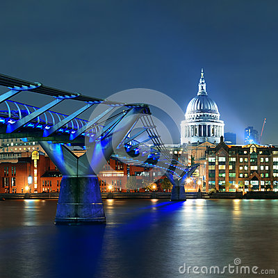 Millennium Bridge and St Pauls Editorial Photography