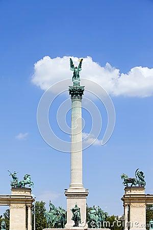 Millennium Monument in Budapest