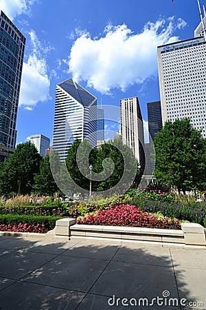 Millennium Park Chicago Editorial Image