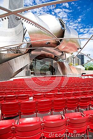 Millennium park in Chicago Editorial Image