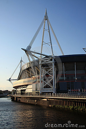 Millennium Stadium, Cardiff at Dusk