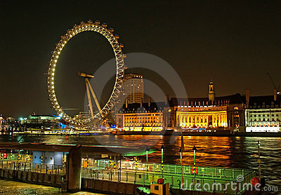 Millennium wheel (London Eye) Editorial Stock Photo