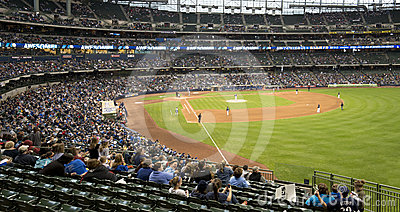 Miller Park, Milwaukee Brewers, Baseball Outfield Editorial Photography