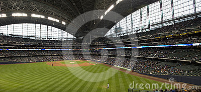 Miller Park, Milwaukee Brewers, Baseball Outfield Editorial Image