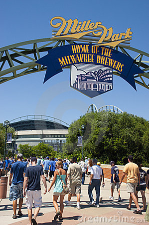 Miller Park Milwaukee Brewers MLB Baseball Editorial Stock Image